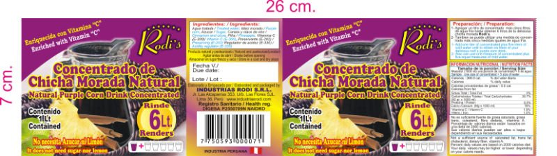 Natural concentrated purple corn drink
