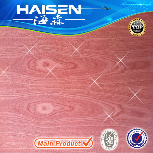 5.2mm Sapeli two sides faced plywood poplar core