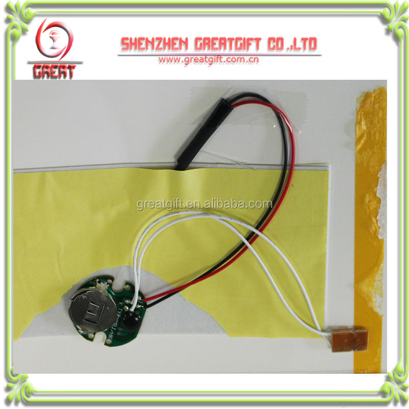 10 Flashing Wired LED Module Greetings Card Toy