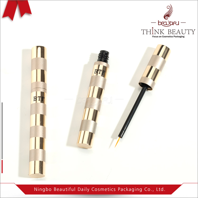 Top sale cheap 5.5 ml matte gold&shiny gold empty eyeliner container,liquid eyeliner tube