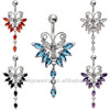 Elegant Butterfly Belly Button Ring Body Jewelry Piercing BER-002