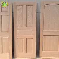 solid wood oak unfinished and non painting wood doors interior doors low price