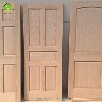 Solid Wood Oak Unfinished And Non Painting Wood Doors Interior Doors
