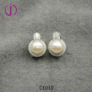 2015 wholesale jewelry freshwater pearl sterling silver 925 earring