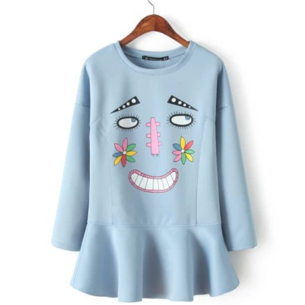 MS41131B 2015 western cute smile face new fashion ladies dress