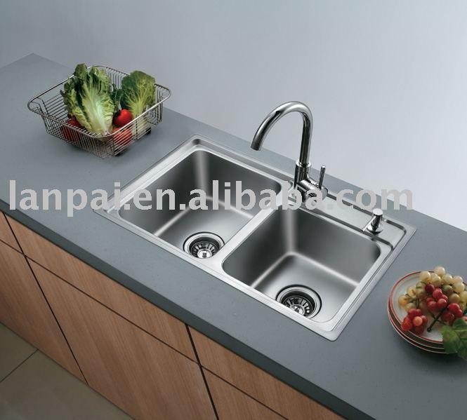 De acero inoxidable fregadero de la cocina cocina for Fregaderos de porcelana para cocina