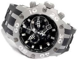 Invicta Stainless Steel Chronograph Swiss Quartz Black Dial Strap 0920