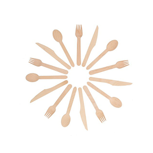Disposable bulk wooden spoon fork knife flatware sets