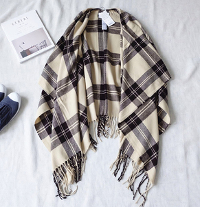 SZPLH Wool woven check plaid scarves and shawls