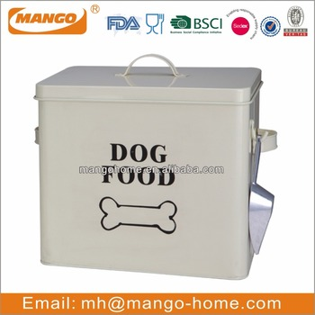 rectangular metal dog food storage containers - Dog Food Containers