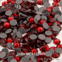 2058HF 1440pcs/pack Siam Strass Glue Crystals FlatBack SS20 Hotfix Rhinestones Iron On Panama Jack
