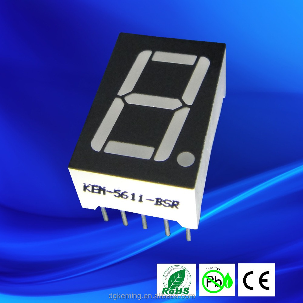 0.56 inch single digit 7 segment led display <strong>screen</strong> white/ green/ red/ blue