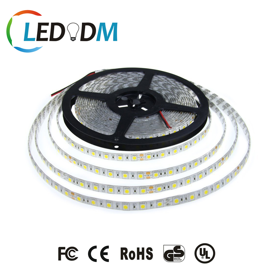 CE ROHS Certification SMD5050 LED Strip DC12V 24V White Color With 2 Years Warranty