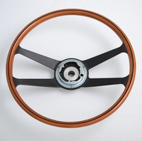 China 15.5'' Black Reproduction Original Steering Wheel with Horn Button Bracket and Column Adapter for Porsche