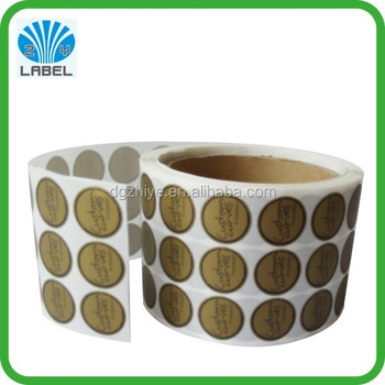 Fancy adhesive custom small round roll sticker printing gold printing sticker roll glossy logo