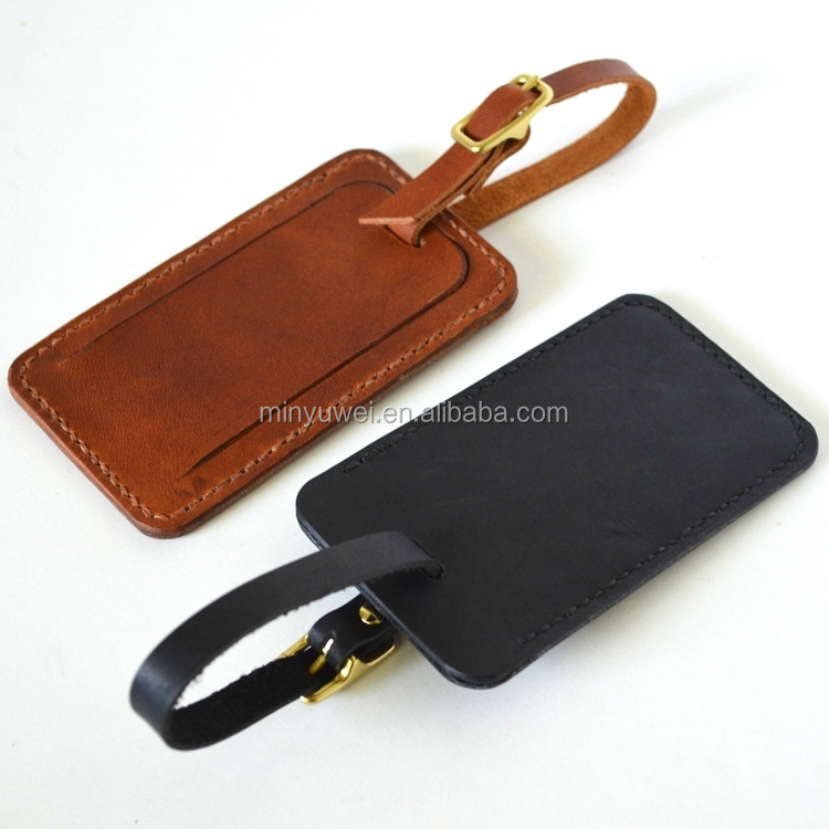 black leather luggage tag fashion travelling luggage case tags with information card pocket designer luggage tags