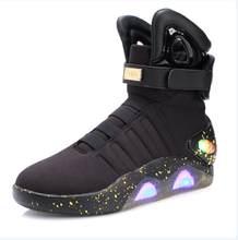 JawayKids/Новые сапоги со светодиодной подсветкой для мужчин женщин мальчиков и девочек, светящаяся обувь с зарядкой от USB Мужская обувь для веч...(Китай)