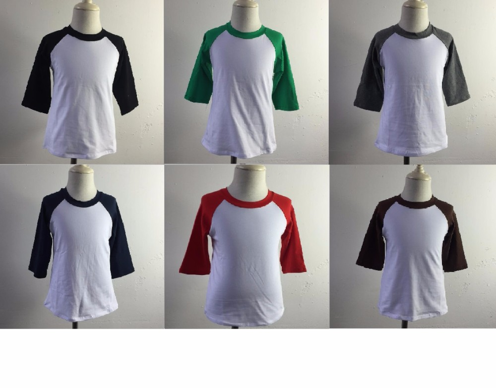 1fc55144ad Factory direct custom christmas raglan boy toddler green and red stripe top  3/4 sleeves
