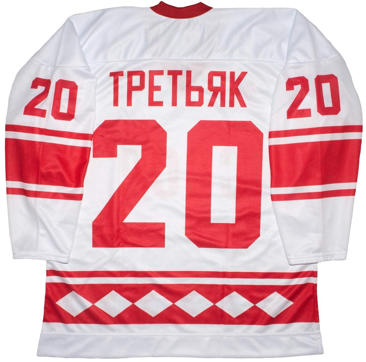 03d83e9f3c0 Get Quotations · Vladislav Tretiak CCCP Russian 1980 White Hockey Jersey