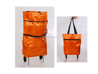 Folding statin shopping trolley bag expandable shopping bag with wheels
