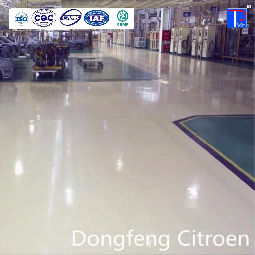 TOPU factory concrete ground self leveling thick epoxy floor coatings