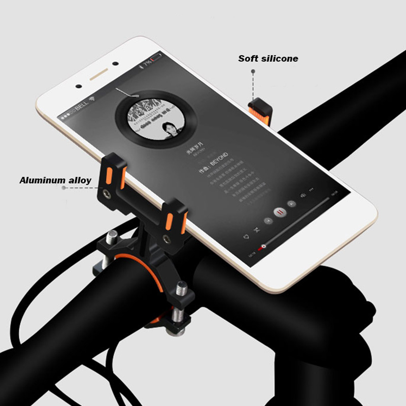 Bicycle /& Motorcycle Cell Phone Brackets Aluminum Alloy Bike Mobile Holder