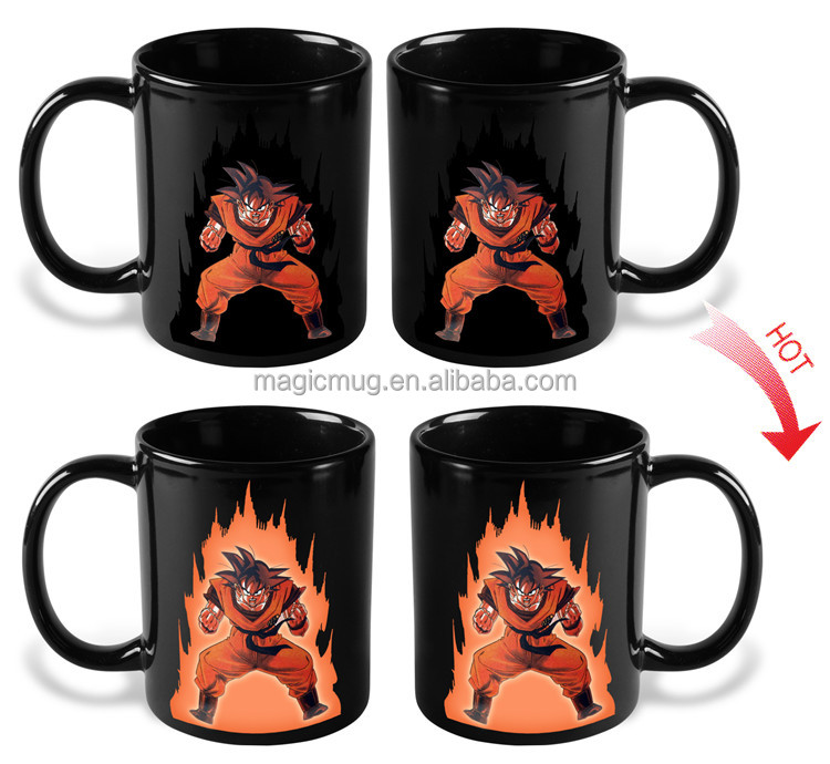animation customized Naruto color changing mug with ceramic
