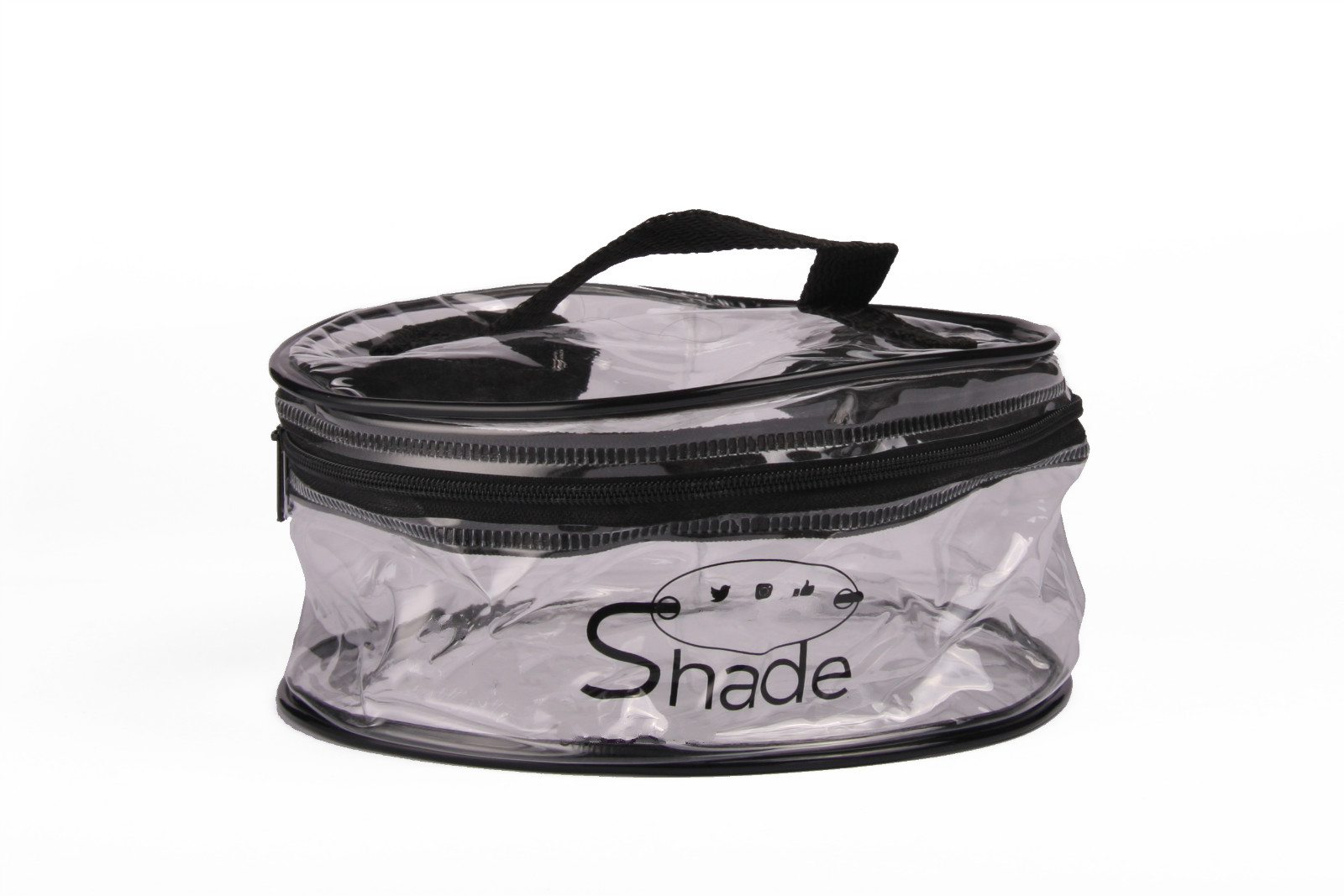 OEMPROMO transparent pvc zipper bag with handle