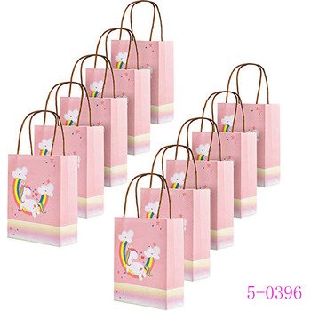 Paper Treat Bags Party Favor With Handles Birthday Supplies Unicorn Gift