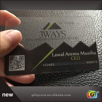 Matt Finish Plastic Transparent Business Cards/Visiting Cards/ Name Cards
