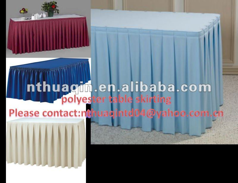 polyester table skirting cover and table linen table skirts buy rh alibaba com  buffet table linens