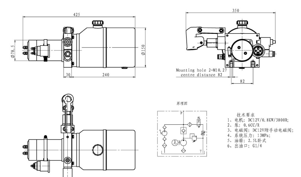 Hydraulic Power Pack Schematic With Hand Pump And Price List - Buy on