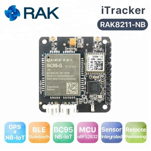 RAK8211-NB iTracker NB-IoT Tracker Module, BC95 Support Global band, NBIoT+BLE+GPS+ 5 Sensors, NORDIC52832, Bluetooth 5