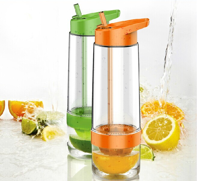 Portable water bottle with straw/Plastic infuser water bottle manufacturing