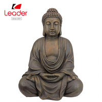 Hot selling with factory price resin sculpture meditative antique garden buddha