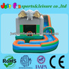 2014 Jungle Inflatable bounce slide combo,wet&dry with detachable pool