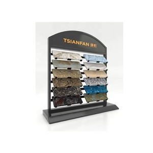 SR050 Metal Waterfall Counter Display Stand for Quartz Stone