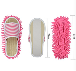 Removable Cleaning Tool Floor Dust Mop Shoes Mopping Slippers
