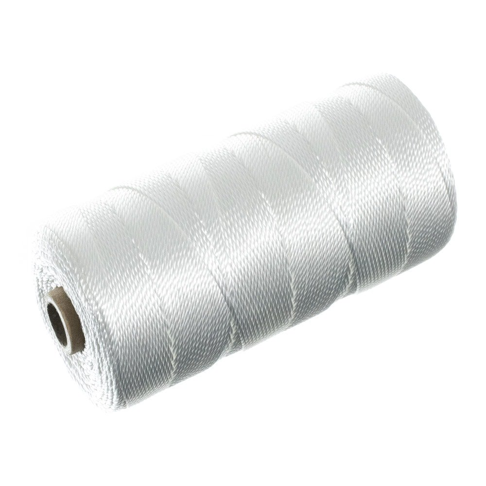 Braided Nylon Mason Line #18 - Paracord Planet - Moisture, Oil, Acid, & Rot Resistant - Twine String for Marine, Masonry, Crafting, Gardening Uses