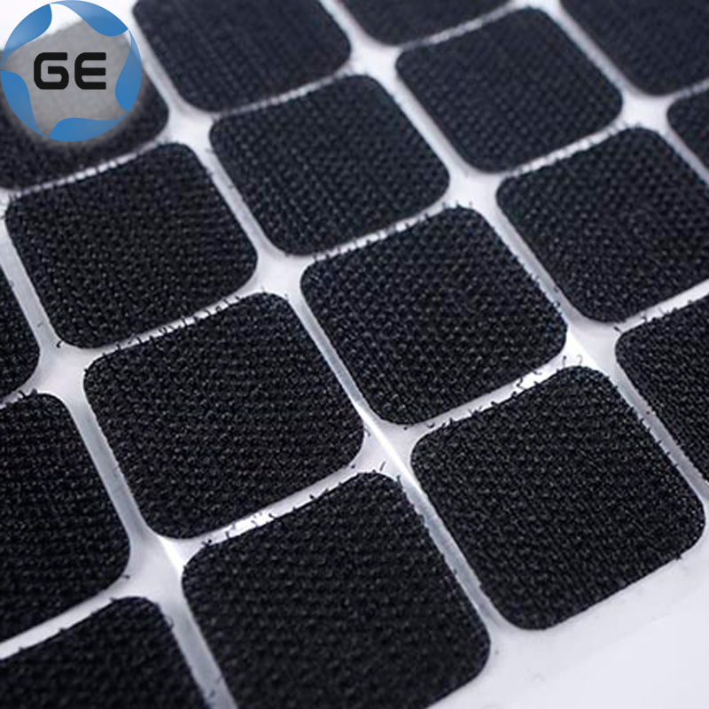 High Quality Self-Adhesive Nylon Hook and Loop Square Dots Customized Round Sticky Rectangle Dot with Back Glue