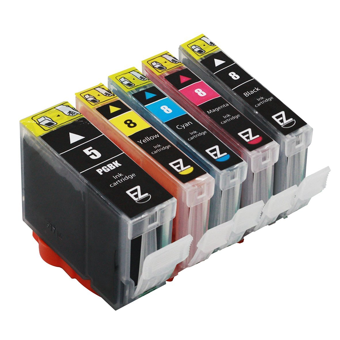 E-Z Ink (TM) Compatible Ink Cartridge Replacement For Canon PGI-5 PGI5 CLI-8 CLI8 (1 Black, 1 Cyan, 1 Magenta, 1 Yellow, 1 Small Black) 5 Pack PGI-5BK CLI-8C CLI-8M CLI-8Y CLI-8BK
