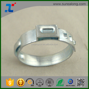 Stainless steel hose single ear pinch clamp