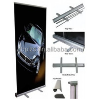 Standing scrolling roll up banner stand easy moving roll up banner stand