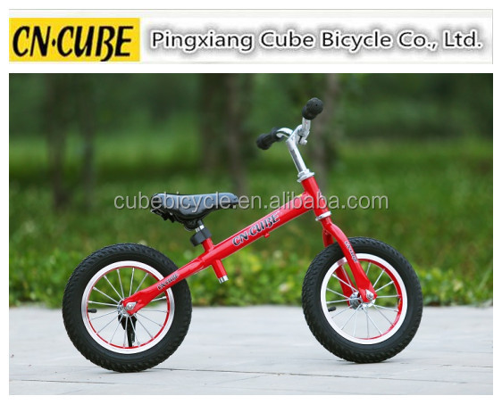 alumnium wheels child balance bike with air tyre