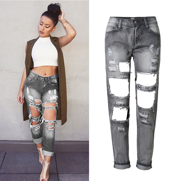 Cut up jeans for girls