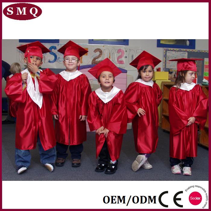 Kindergarten Children Graduation Gown With Cap, Kindergarten ...