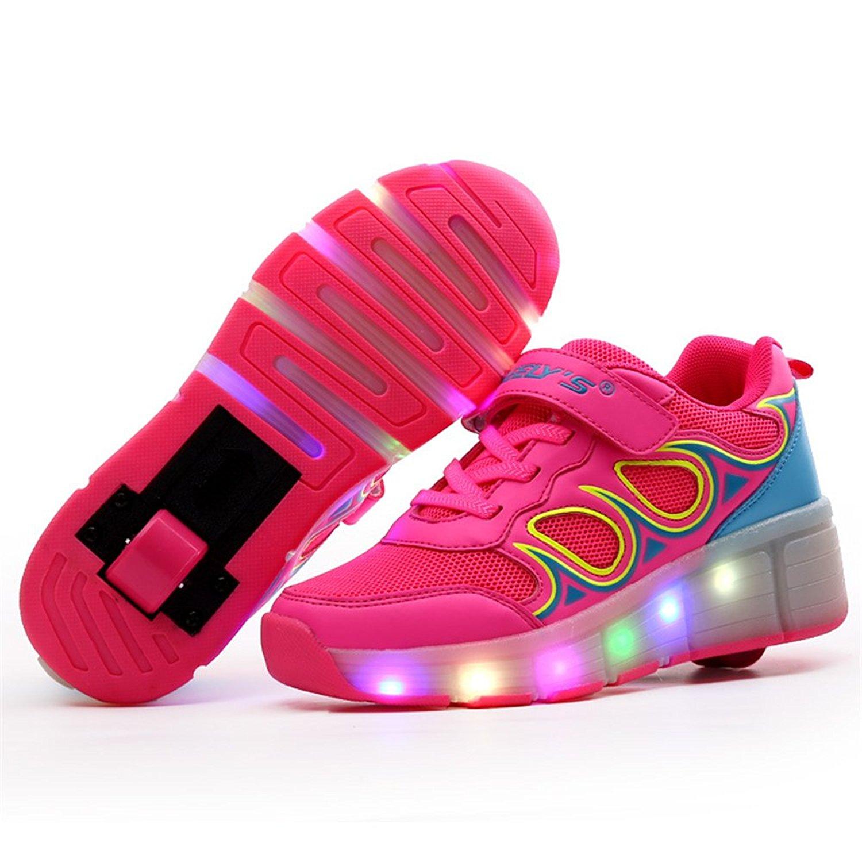 MICOStore LED Light up Shoes Kids Skates Shoes Sneakers Kids Wheel Roller Skate Shoes Boys Girls Kids Gift