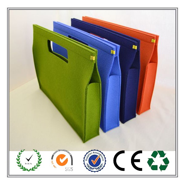 2016 New trendy products A4 size business felt file folder
