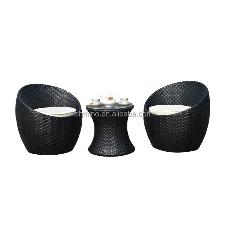 Muebles de exterior de alta espalda rota conjunto de ratán sofá ...