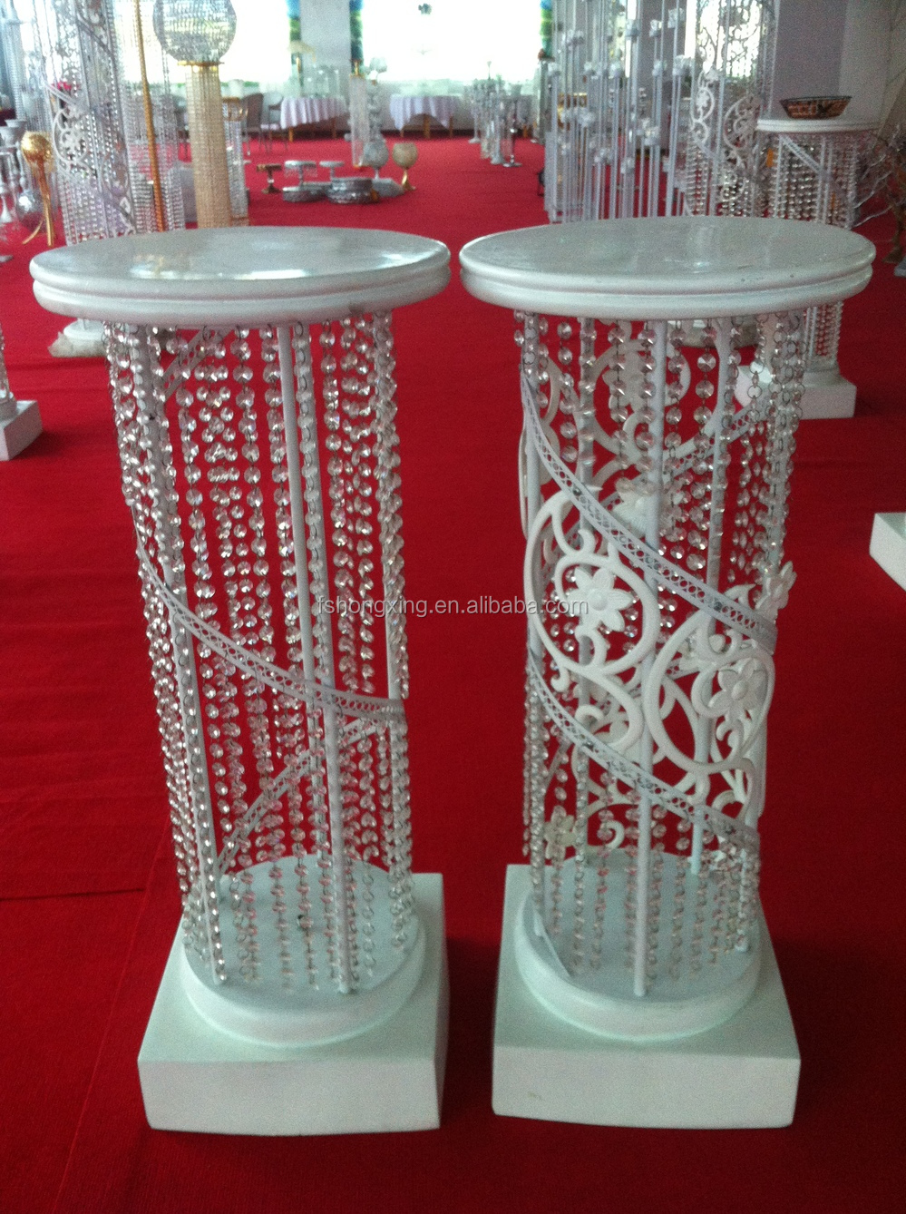 Illumilated Led Wedding Roman Pillar Columns Mandap For
